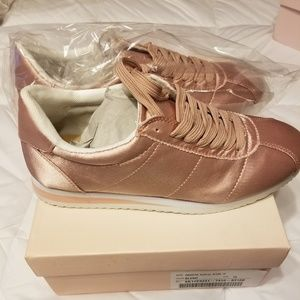 Blush Metallic Sneakers